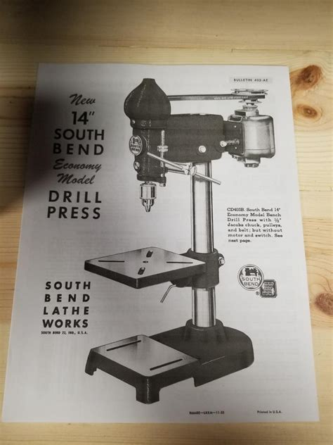 south bend drill press