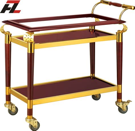 Troli Hotel Trolley hotel serving food trolley with brake service trolley