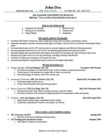 Automotive Service Technician Cover Letter by Automotive Technician Resume Exles Auto Mechanic Engine Repair