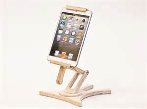 tablet holder stand kitchen tablet stand wood