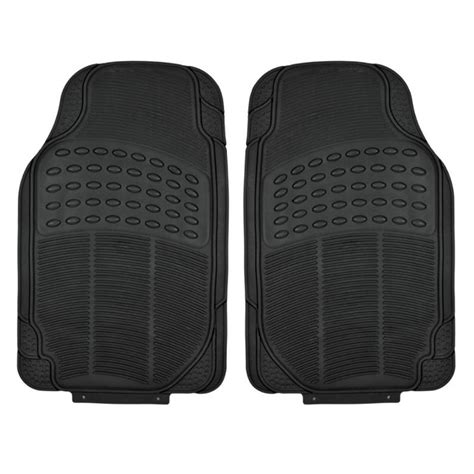 Car Mats Rubber by Black Rubber Car Floor Mats Front 2 Set All Weather