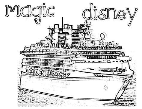 coloring pages disney cruise cruise ship netart