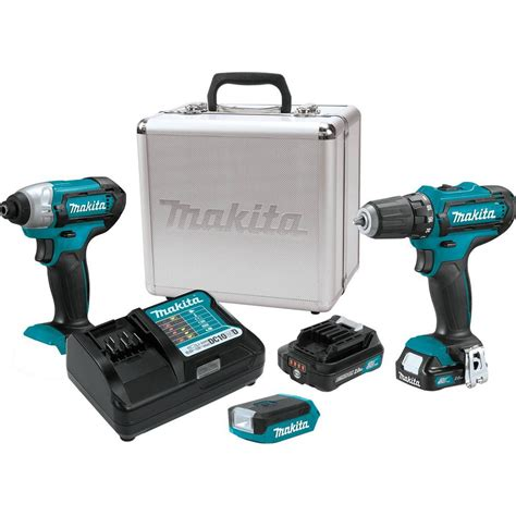 makita 12 volt max lithium ion combo kit 2 tool lct208w