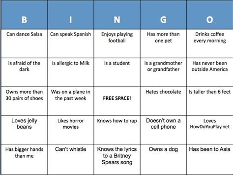 introduction bingo template icebreaker how to play to family