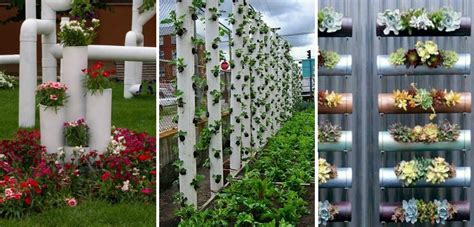 diy vertical pvc planter home design garden