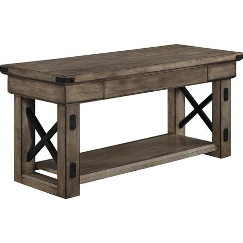 grey entryway storage bench altra furniture altra wildwood wood veneer entryway bench