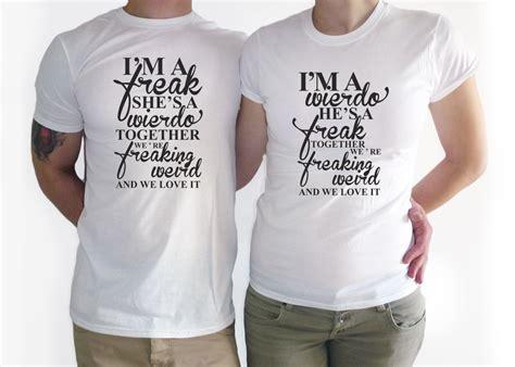 Kaos I Am A Weirdo couples t shirt im a weirdo shirt t shirt