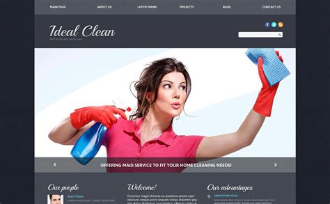 cleaning responsive joomla template 51763