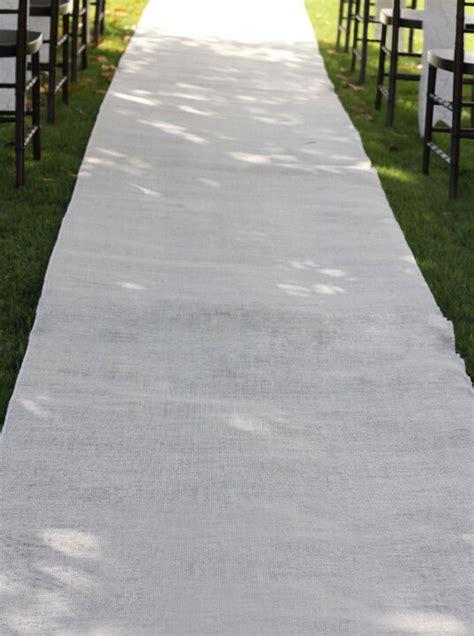 Wedding Aisle Runner For Grass by White Burlap Aisle Runner 36 Quot X 100ft