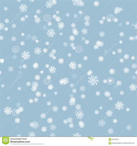 snowflake pattern illustrator winter snow brush seamless pattern stock vector image