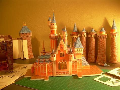 Sleeping Castle Papercraft - sleeping castle papercraft and model wip on behance