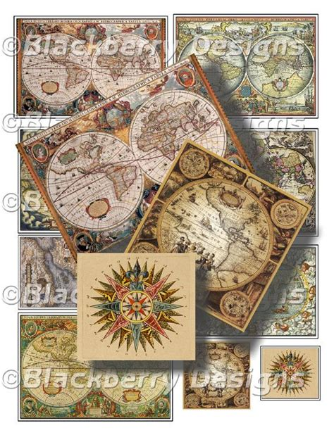 Decoupage Map Paper - 10 images about collage papers on tissue