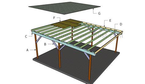 building  simple carport double carport flat roof