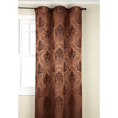 Copper Colored Curtains Regal Home Collections Olympia Jacquard Grommet 19
