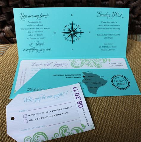 Travel Wedding Invitations