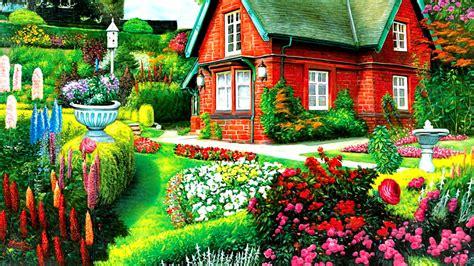 garden house wallpaper gallery