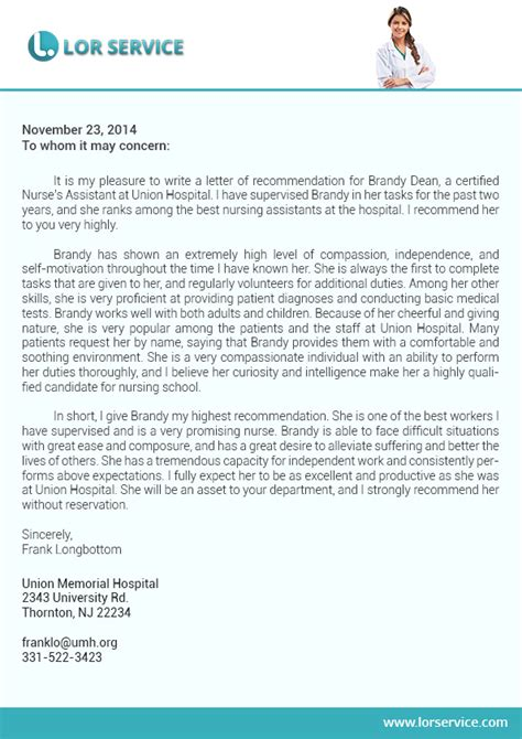 recommendation letter for graduate student from employer image