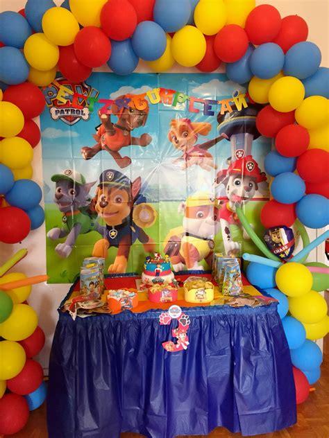 imagenes de cumpleaños decoracion patrulla canina decoraci 243 n cumplea 241 os infantil ideas paw