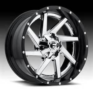 Truck With Black Chrome Wheels Fuel D263 Renegade 2 Pc Chrome Gloss Black Custom Truck