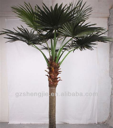 artificial palm tree leaves large outdoor artificial trees