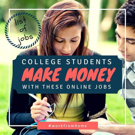 Make Money Online For College Students - college students long list of online jobs gigs savings