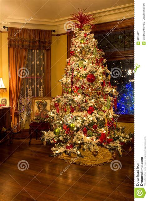 victorian style christmas tree editorial photography