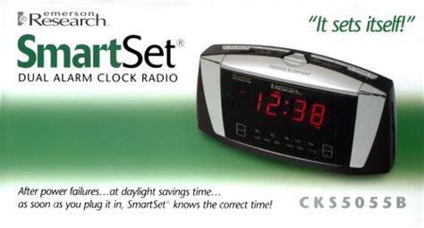 emerson radio cks5055b smartset dual alarm clock radio with large led display b