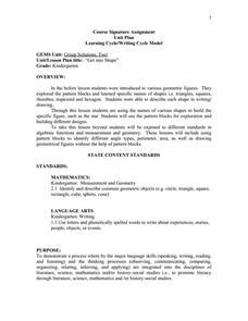 geometric pattern lesson plan geometry with pattern blocks lesson plans worksheets