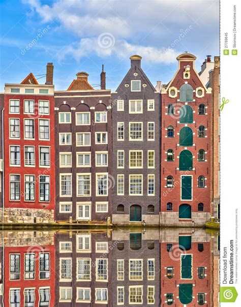 Building A House From Plans by Traditional Dutch Buildings Amsterdam Stock Image Image