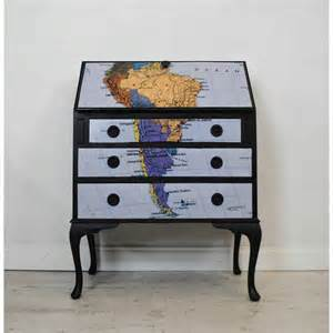 What a great upcycled furniture idea a vintage high boy dresser with