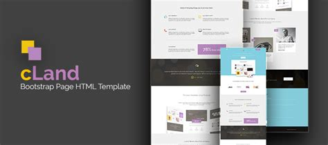 Cland Bootstrap Page Html Template Creativecrunk Bootstrap Advertisement Template