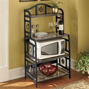 Bakers Rack For Microwave Faux Marble Bakers Rack From Montgomery Ward 174 Sj49422