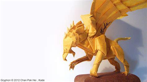 origami griffin tutorial kade chan origami blog 香港摺紙工作室 日誌 gryphon 獅鷲 影片教學