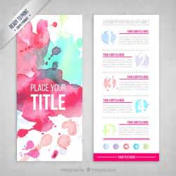 Flyer Template by Watercolor Flyer Template Vector Premium