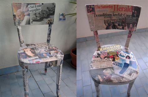 rivestire le sedie come rivestire delle vecchie sedie con i giornali tutto