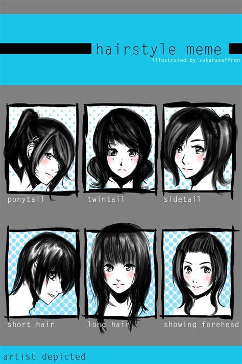 Hairstyle Meme - sakura hairstyle meme by sarachu on deviantart