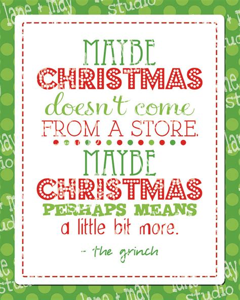 selling printable quotes on etsy christmas grinch quote 8 x 10 digital print instant download