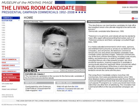 the living room candidate museum of moving image s online archive of presidential