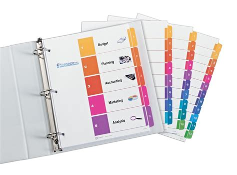 amazon com avery ready index table of contents dividers