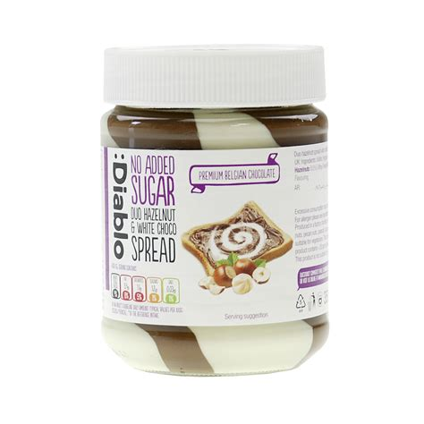 Crumpy Duo Hazelnut Spread duo hazelnut white chocolate spread ohne zuckerzusatz diablo 350g lcw shop de