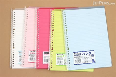 Binder B5 26ring S42 kokuyo cus smart ring binder notebook b5 26 rings yellow green jetpens