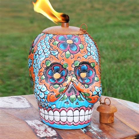 day of the dead sugar skull mexican pottery l