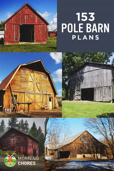 barn plan 153 pole barn plans and designs that you can actually build