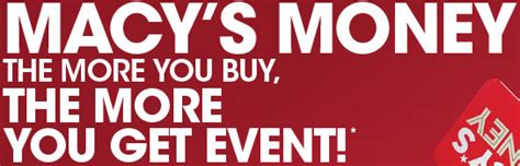 Redeem Macy S Gift Card Online - macy s money the more you buy the more you get event