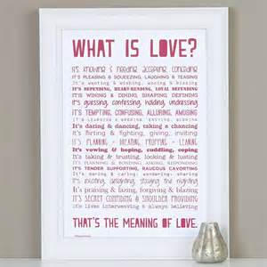 what is love poem print wedding in a teacup