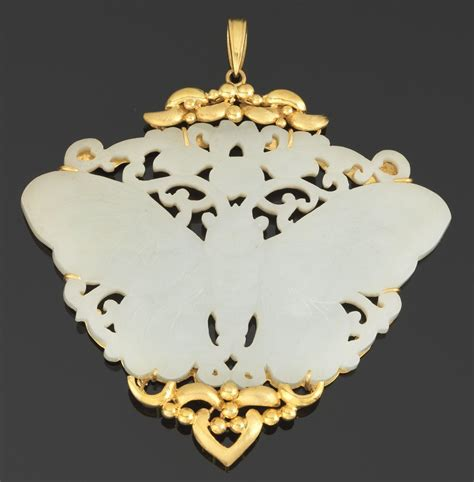 Paper Weight Butterfly 03 Small Dec66 Gold a carved jade butterfly and gold pendant 05 24 13 sold 747 5