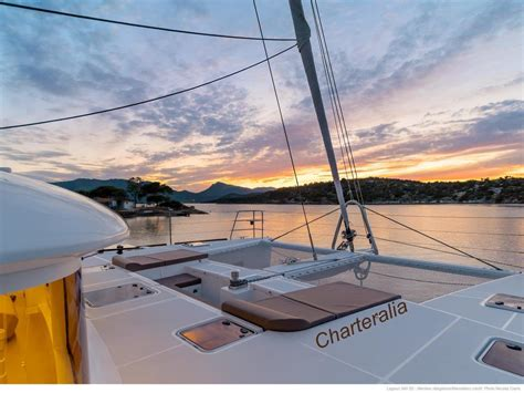 sunset catamaran cruise ibiza luxury lagoon 560 mega catamaran ibiza charteralia boat
