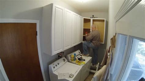 How To Install Cabinets In Laundry Room Laundry Room Cabinet Install Timelapse