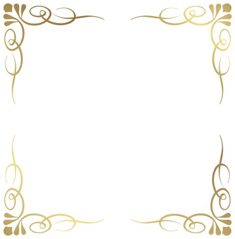 decorative border stickers transparent decorative frame border png image planner