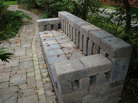 diy brick bench brick bench the salvaged garden pinterest poker chips stone bench and brick paving